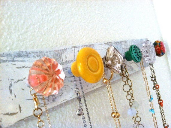 Bright Colors Jewelry Organizer / Wall Mounted Necklace Holder