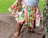 Tutu for baby...Tutu for girls...Multi-colored fabric tutu...Fabric skirt...White...Pink...Green... Turquoise...Hawaiian...Luau.