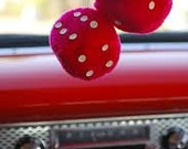 Made to order Car DICE you choose colors and size hanging dice fuzzy dice