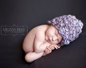 Baby Hat Newborn Photo Prop Photography PropsThick and Thin Wool Hat French Lavender Baby Beanie Hat Props for Newborn Photography