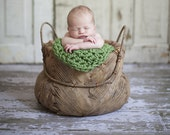 Newborn Baby Photo Prop Blanket Newborn Photography Prop Blanket Hand Crochet Green Baby Blanket 24''x18''