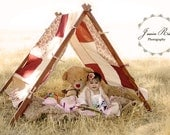 Children Photography Prop  Tent A  Frame and Patchwork Cover Kids Photo Prop Tent Photo Prop Outdoor Photography Props Children Photo Prop