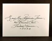 "Calligraphy for Wedding Invitation ""Elegant"" Font Sample"