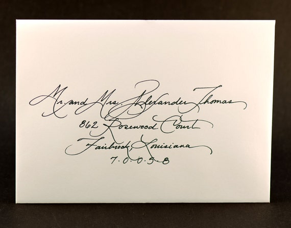 Items Similar To Calligraphy For Wedding Invitation