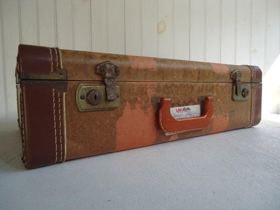 Vintage Suitcase, Vintage Luggage, Wedding Decor, Photo Prop