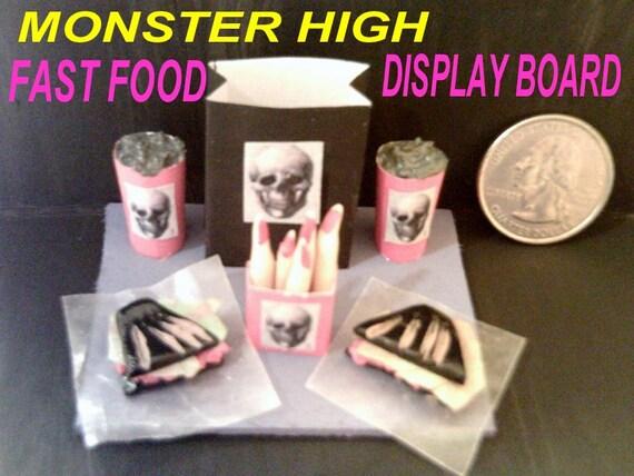 monster high doll mcdoomed restaurant fast food display board. Black Bedroom Furniture Sets. Home Design Ideas