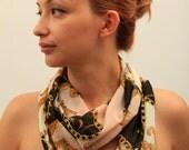 50 % OFF Chiffon Circle scarf - Versace Design Scarf  - Infinity Scarf