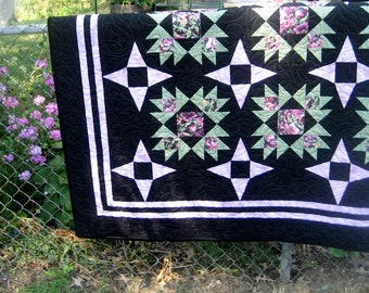 SALE, Buy 2/Get 1 Free -- STARRY ILLUSIONS, pdf quilt pattern, 4 sizes