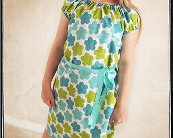 INSTANT DOWNLOAD Sweet Little Dress PDF Sewing Pattern  sizes 6 to 10 by Leila and Ben