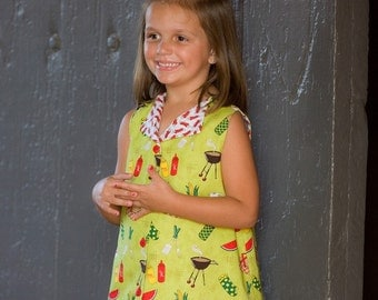 INSTANT DOWNLOAD Girls Dress PDF Sewing Pattern JoAnn by Nanoo Designs