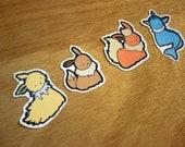 Eeveelution Stickers - Set of 8