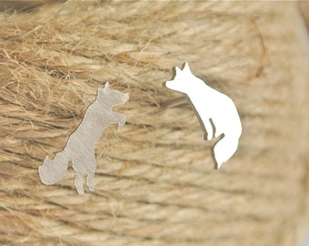 Fox Earrings -mismatched studs
