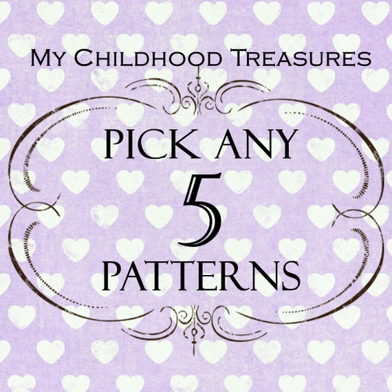 SAVE - Choose any 5 sewing patterns - girls dress pattern, childrens sewing pattern, girls sewing pattern pdf, boys sewing pattern, easy