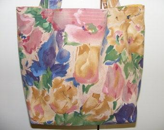 Floral tote bag, market bag, school bag, book bag