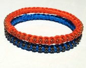 summer bangle bracelet set, 2 stackable bangles in shades of orange ,blue, sale, free delivery, promotion