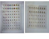 2 Sheets of Various Coloured self-adhesive Rhinestone Gems, Very sticky