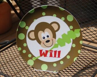 Monkeying Around-Personalized Melamine Plate