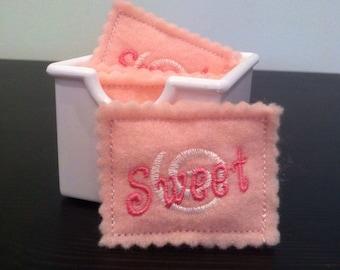 Pretend Play Felt Artificial Sweetener Packets