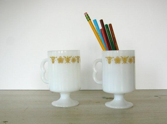 Butterfly Pyrex Mugs