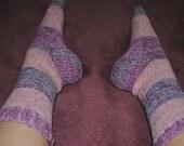 Pink and Blue/Purple Stripe Socks