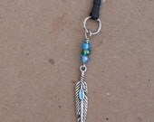 Fancy Feather- Phone/MP3 Player Charm