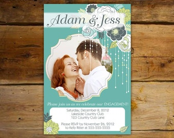 Engagement Party Invitation - Shabby Chic Romance