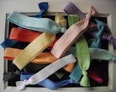 SHIPS FOR FREE:)Elastic hair ties-grab bag of 25