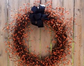 Pip Berry Wreath, Halloween, Fall, Grapevine
