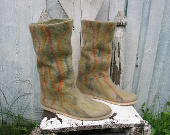 Felted women boots ECOLINES