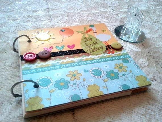 Handmade Journal/Sketchbook - Neutral Colors Pregnancy Memory Book
