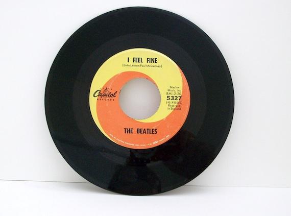 The Beatles 45 Vinyl Record I Feel Fine She S A Woman