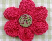 Hand knitted corsage