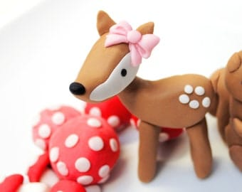 1 qty deer  Woodland fondant woodland party, fairy party