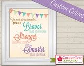 8x10 Nursery Print - Braver Than You Believe, Stronger Than You Seem, Smarter than You Think