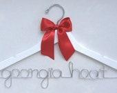Custom Cheerleading / Gymnastics / Club Sport Hanger with satin bow -- Cheerleading, Gymnastics, Volleyball, College Athlete