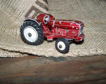 Dinky Toy Tractor Vintage Toy Tractor Red Dinky Tractor