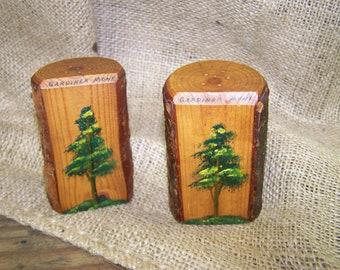 Montana Souvenir Salt Pepper Shakers Tree Salt Pepper Shakers