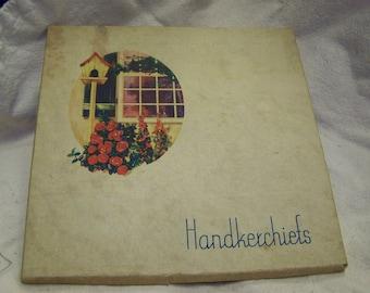 Handkerchief Box Vintage Handkerchief Box
