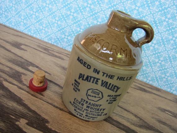 1978 Platte Valley Straight Corn Whiskey McCormic Ceramic Bottle