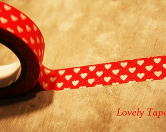 Red Washi with Hearts