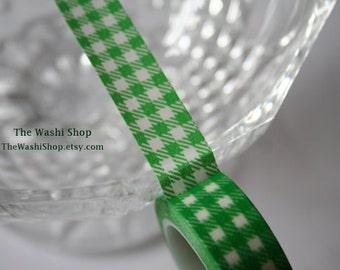 Green Checker Pattern Washi Tape