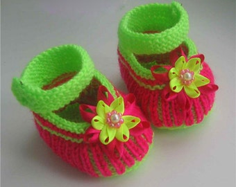 Knitting pattern. Baby booties - HK3