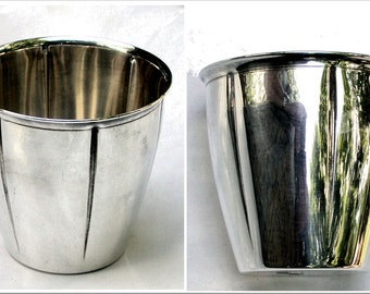 Vintage French Christofle SIlver Plated Beaker Cup.