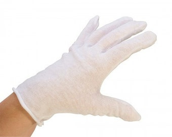 2 PR Lightweight Cotton Gloves - LADIES Small Gloves - You receive 4 gloves - polishing supplies - polish - polishing tools - cloth