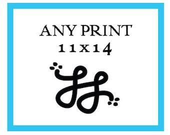 Any 11x14 Print