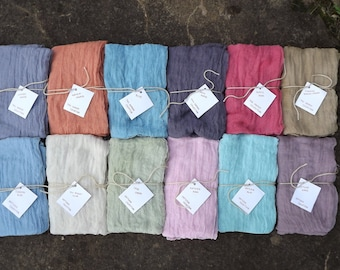 Set of 6 Antique or Fall Harvest Collection Cheesecloth, baby & maternity wraps high grade, photography prop
