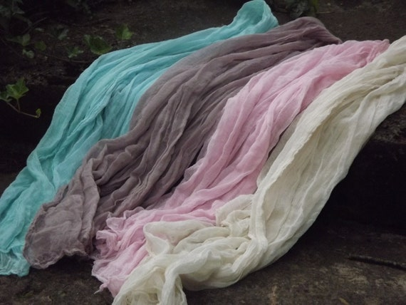 Antique Collection - Set of 4 Cheesecloth baby & maternity wraps high grade, photography prop