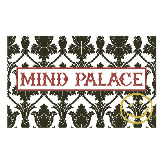 "Sherlock Holmes ""Mind Palace"" Pillow Chart for Cross Stitch or Needlepoint"