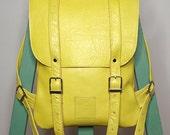Leather back pack rucksack handmade by Kokosina