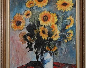 Replica of Monet's Bouquet of Sunflowers